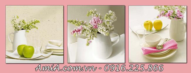 Tranh treo ban an nha chung cu hoa qua tuoi ngon amia 1088