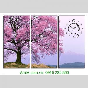Tranh cay hoa anh dao tren nui AmiA 1287