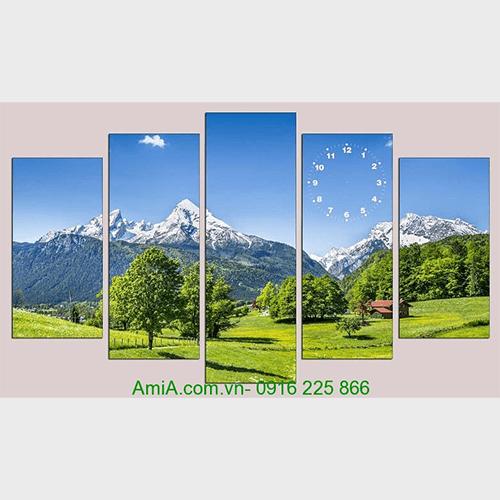 Tranh phong canh doi nui cay xanh AmiA 1058