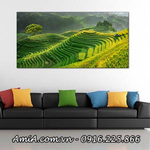 Tranh phong canh doi nui ruong bac thang AmiA 1064