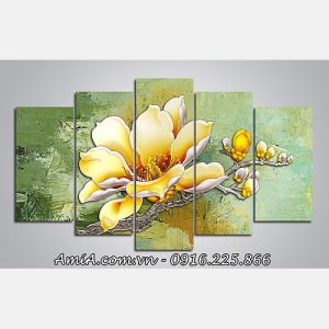 Tranh treo tuong hoa moc lan phu quy