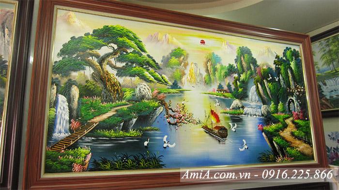 Goc nghieng anh sang cua buc tranh ve phong canh song nui bang son dau AmiA TSD 385