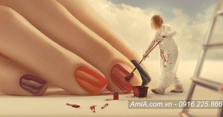 Hinh anh spa dep lam nail AmiA ist-180697900 móng nghệ thuật