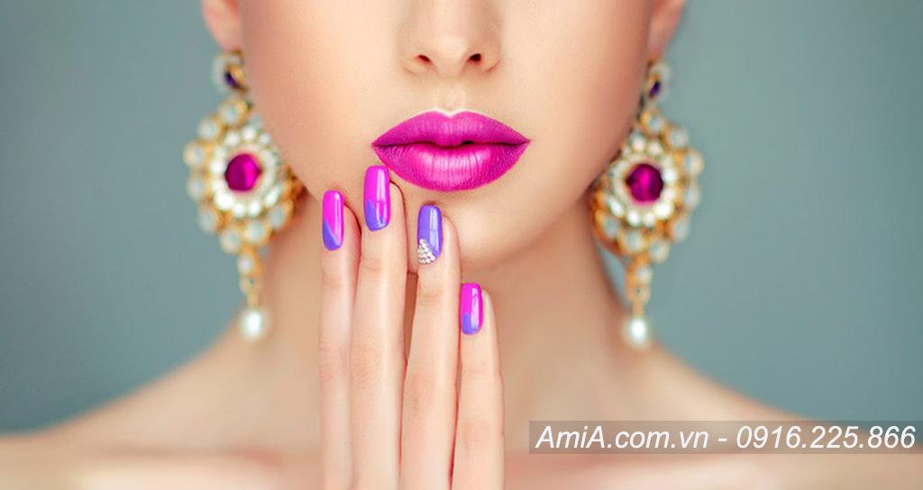 Hinh anh spa dep sang trong lam nail lam mong AmiA ist 845534354
