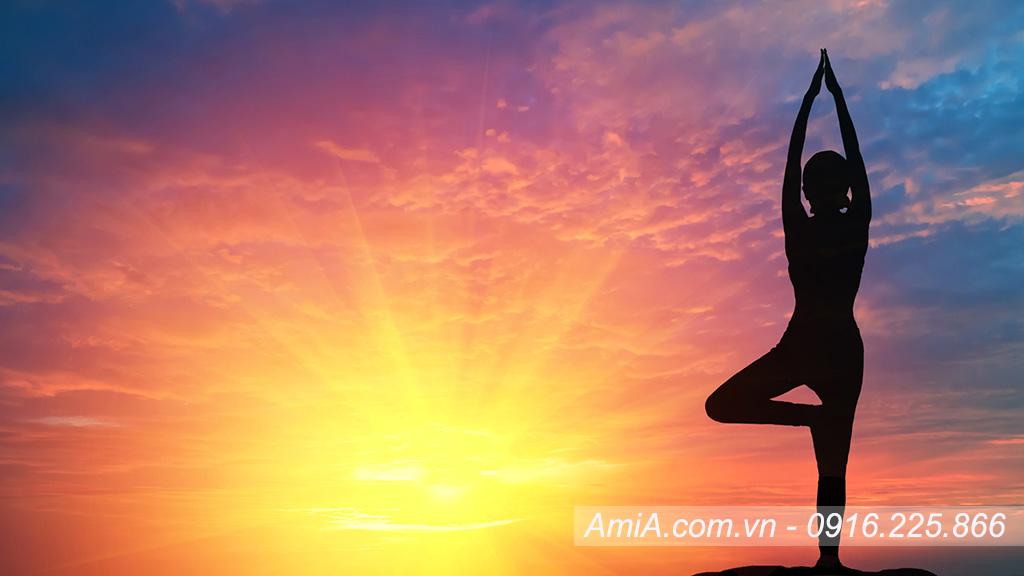 Hinh anh yoga hien dai nghe thuat lam tranh treo tuong AmiA ist 854363952