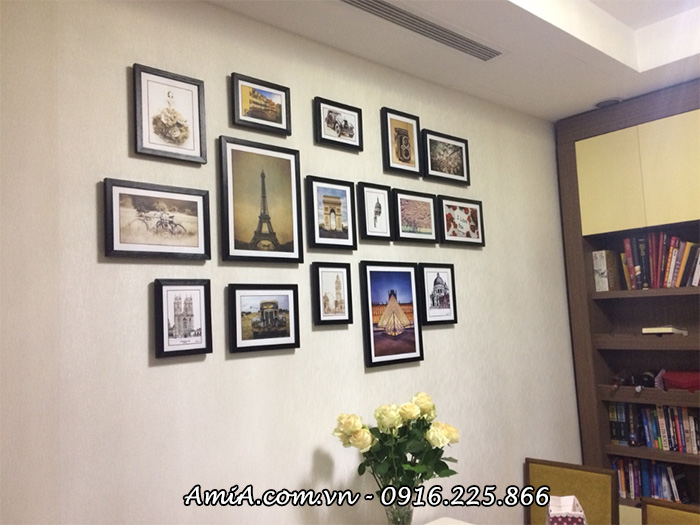 Xu huong treo tranh phong an phong cach vintage co dien