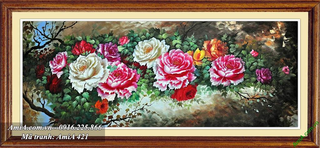 Tranh hoa mau don day leo duoc nhieu nguoi yeu thich