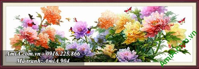 Tranh hoa mau don kho lon mang y nghia thinh vuong vuong gia giau sang