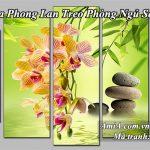 Tranh hoa phong lan treo phong ngu sang trong ca tinh