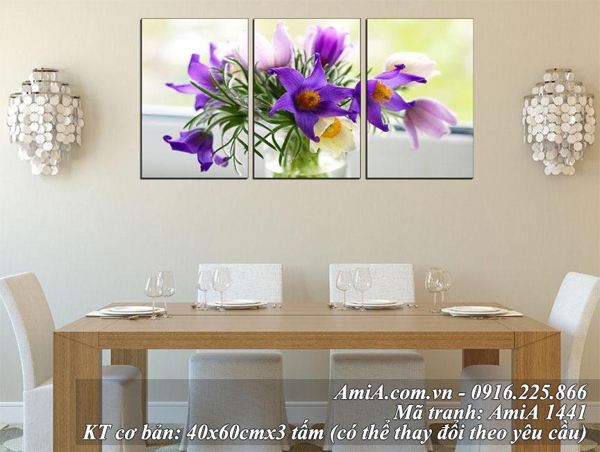 Phong khach tuoi moi cung tranh treo tuong binh hoa AmiA 1441