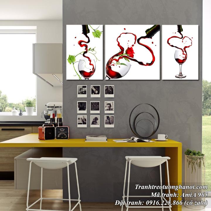 Tranh treo tường rượu vang AmiA 965 nghệ thuật
