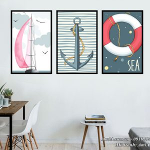 Tranh chủ đề biển cả trang trí phòng trẻ em
