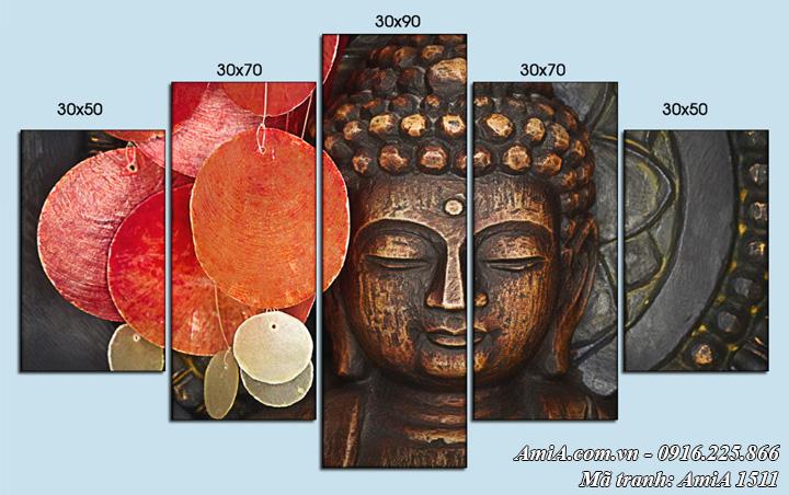 Hình ảnh tượng Phật trong bức tranh treo tường nghệ thuật AmiA 1511