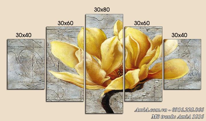 Hình ảnh tranh hoa mộc lan vàng nghệ thuật amia 1516