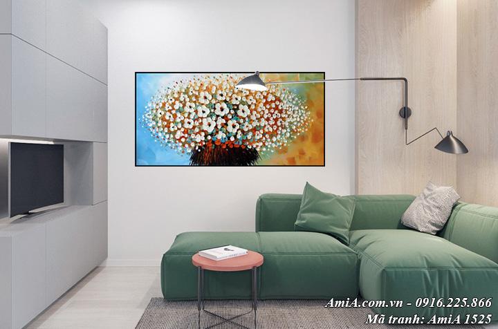 Hình ảnh tranh hoa treo tường phòng khách AmiA 1525