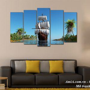 Tranh treo tường phong thủy thuận buồm xuôi gió AmiA 1509