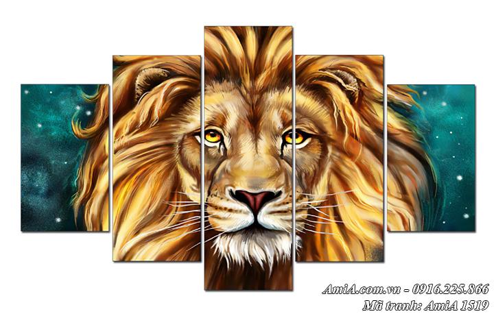 Hình ảnh tranh vua sư tử ghép bộ treo tường AmiA 1519