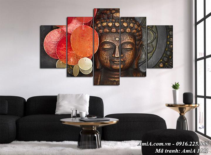 Hình ảnh tranh treo tường nghệ thuật tượng phật AmiA 1511