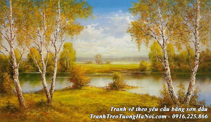 AmiA nhận ve xtranh sơn dầu phong cảnh mùa Thu