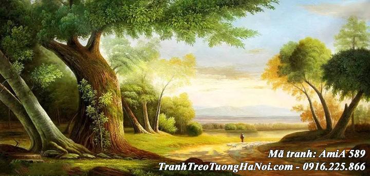 Tranh phong cảnh rừng cây treo tường AmiA 589