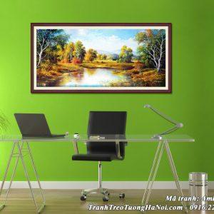 Hình ảnh tranh AmiA 678 phong cảnh thiên nhiên mùa Thu