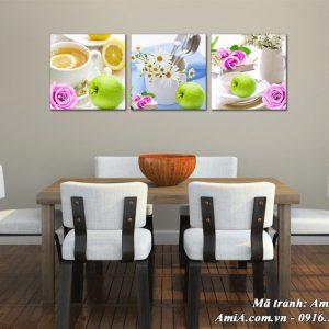 Tranh hoa quả treo tường phòng ăn Amia 1530