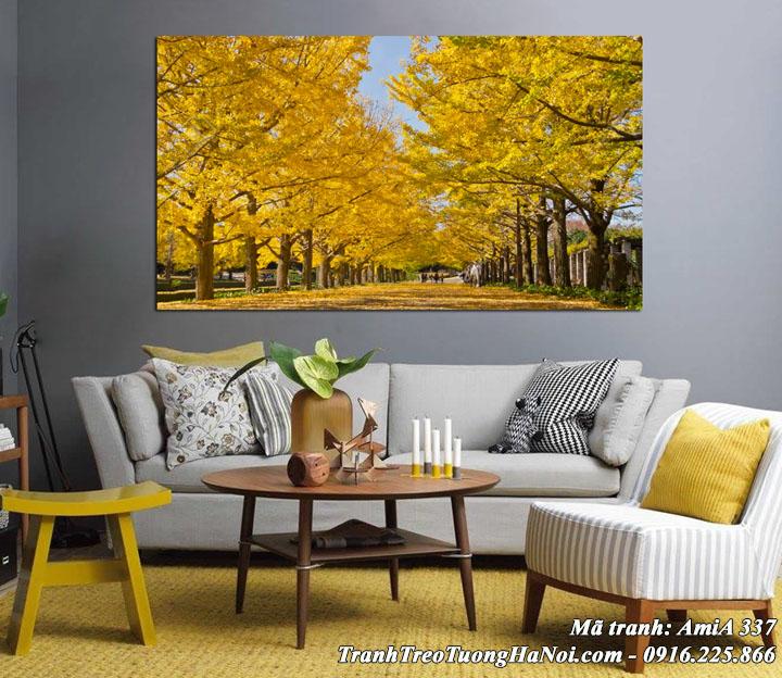 Tranh rừng cây AmiA 337 mùa thu treo tường phòng khách