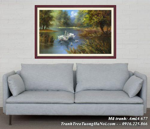 Hình ảnh AmiA 677 tranh treo tường phòng khách ý nghĩa
