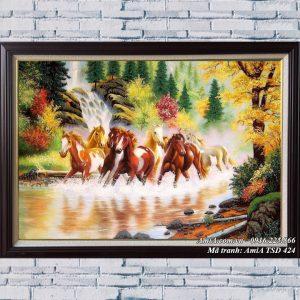 AmiA TSD 424 tranh mã đáo thành công vẽ sơn dầu