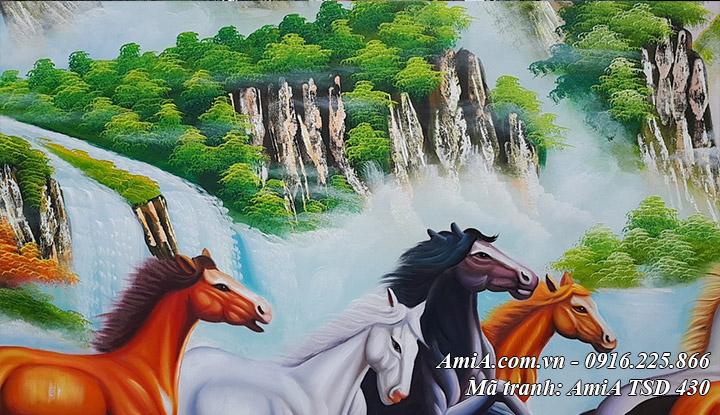 Tranh ngựa chạy sơn dầu AmiA TSD 430