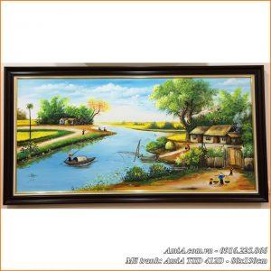 Tranh phong cảnh làng quê vẽ sơn dầu mã TSD 412D