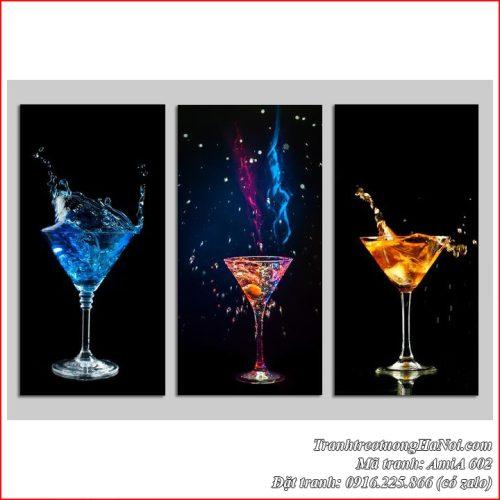 Tranh AmiA 602 tranh treo tường quầy bar mini ly rượu vang