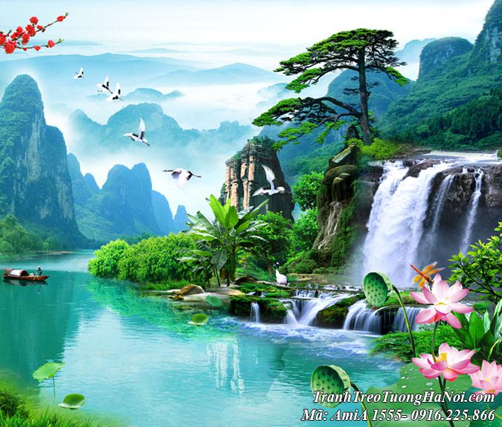 Tranh phong cảnh non nước Việt Nam AmiA 1555 đẹp hữu tình