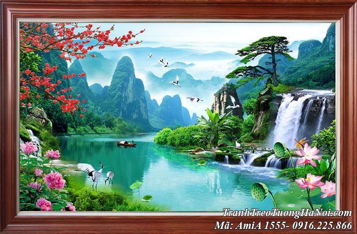 Tranh khổ lớn sơn thủy hữu tình Việt Nam AmiA 1555