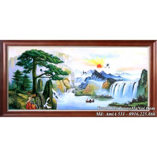 Tranh treo tường ý nghĩa Amia 531 sơn thủy trung quốc