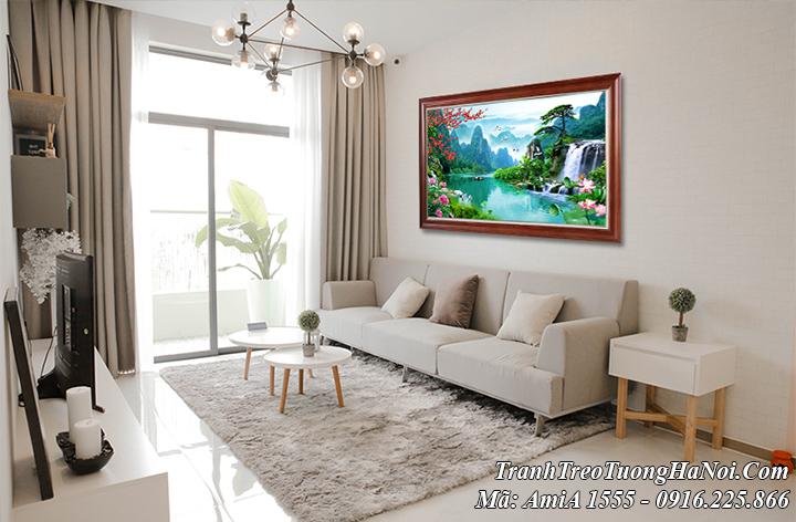 Tranh sơn thủy hữu tình Việt Nam AmiA 1555 treo tường phòng khách