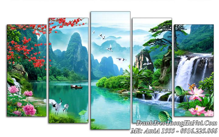 Tranh amiA 1555 sơn thủy non nước Việt Nam treo tường