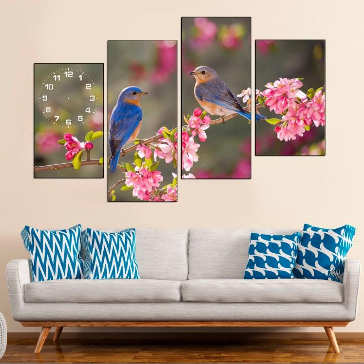 Tranh chim nhỏ treo tường phòng khách phòng ngủ đẹp ý nghĩa