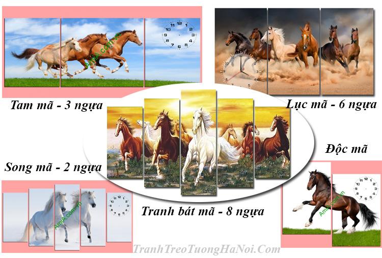 Ý nghĩa tranh mã đáo thành công tranh ngựa 8 con