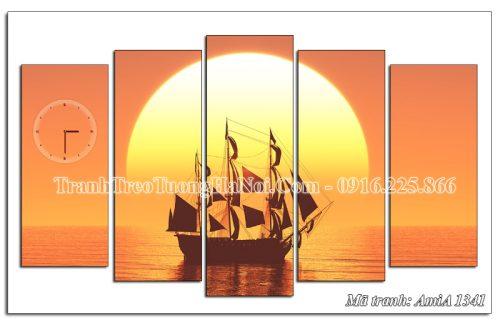 Tranh treo tường thuyền buồm trên biển Amia 1341