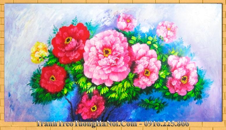 Tranh son dau hoa mau don amia 234