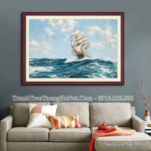 Tranh giả sơn dầu thuận buồm xuôi gió Amia 1569