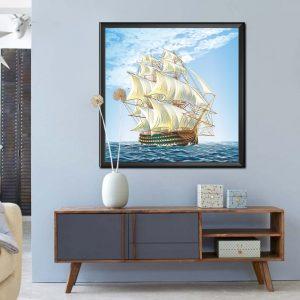 Tranh thuận buồm xuôi gió AmiA 1340 treo tường một tấm
