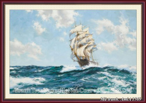 Tranh treo tường giả sơn dầu thuận buồm xuôi gió Amia 1569