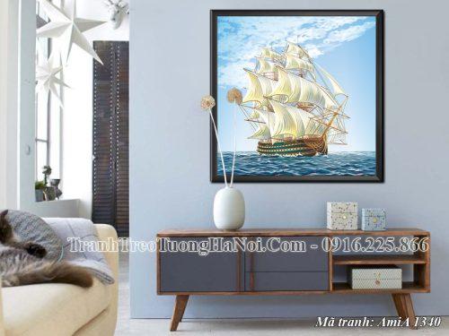 Tranh treo thuyền buồm Amia 1340 hợp phong thủy