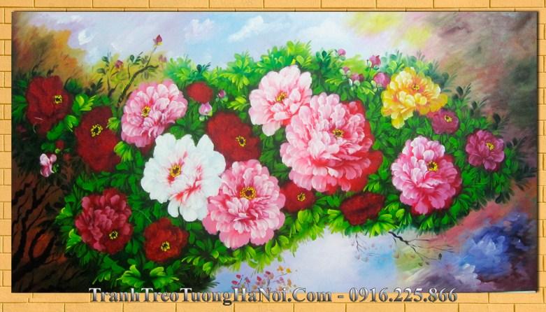 Tranh ve son dau hoa mau don amia 231