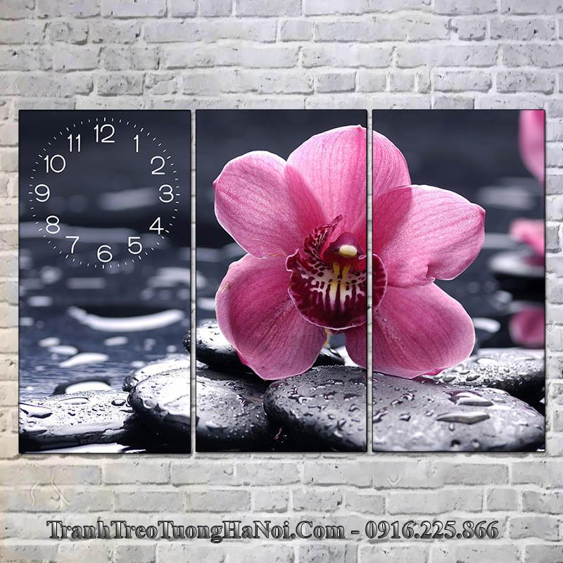 Tranh hoa đá đẹp treo tường spa