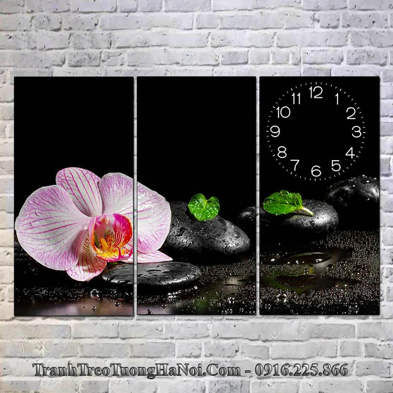 Tranh hoa lan đá treo spa đẹp