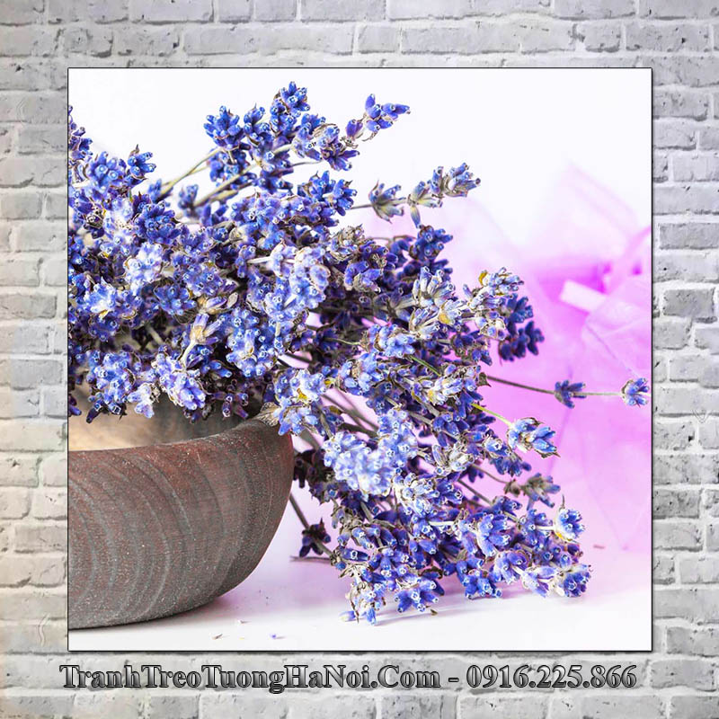 Tranh hoa oải hương trang trí spa