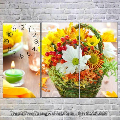 Tranh ghep 3 tam gio hoa spa